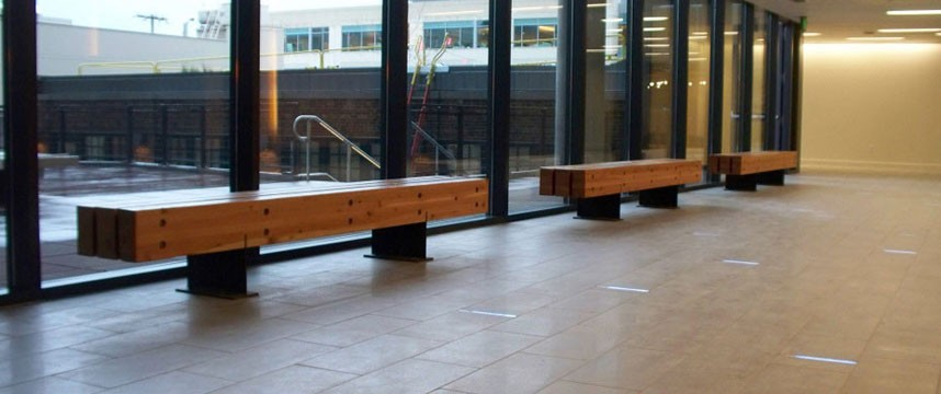 Amazon Reclaimed Fir and Blackened Steel Benches