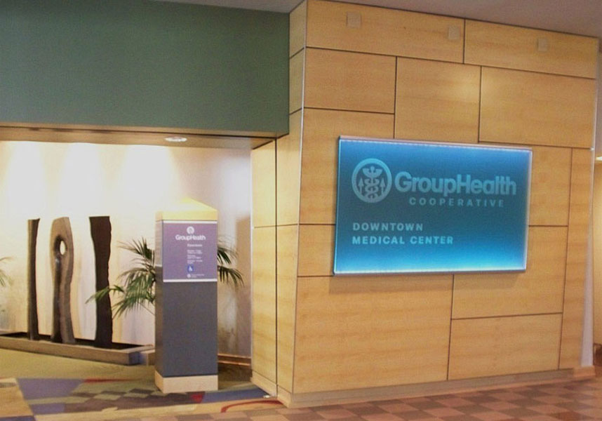 Group Health Figured Maple Wall Paneling & Entry